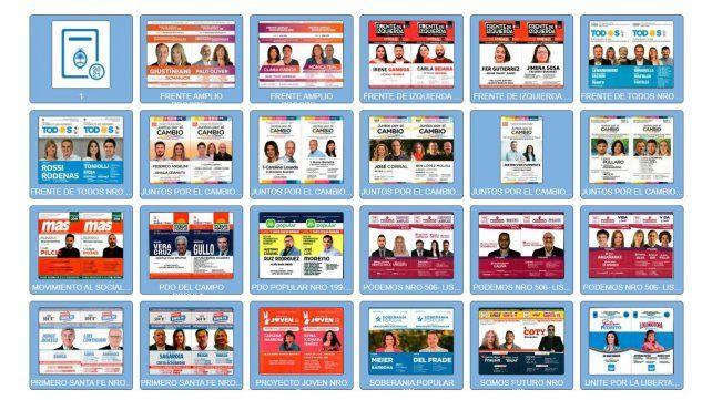 Los precandidatos a senador y a diputado nacional.