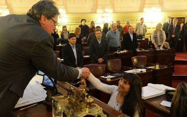 La jura. Robustelli asumió como diputada en agosto pasado. La Cámara defendió su banca por la ley de cupo femenino.