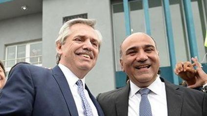 El presidente Alberto Fernández y el nuevo Jefe de Gabinete, Juan Manzur.