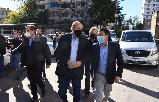 El gobernador Perotti y el ministro Daniel Arroyo