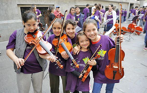 Respaldo. Las orquestas escolares fortalecen la inclusión social y los aprendizajes. En los últimos años surgieron muchas.