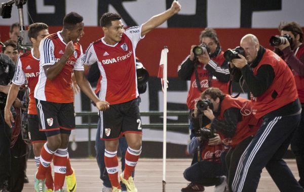 El colombiano Teo Gutiérrez marcó el único gol de los millonarios.