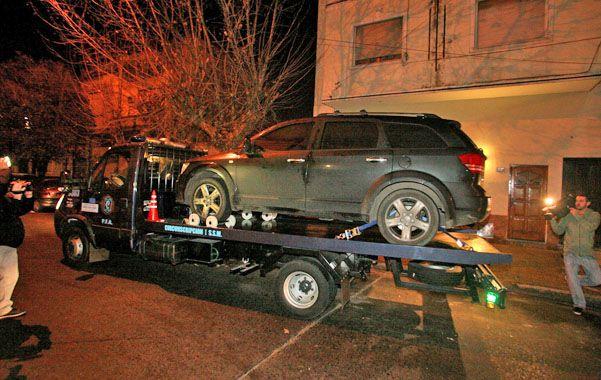 Máquina. El vehículo en el que iba Tevez fue encontrado 12 horas después que el usado por los raptores.