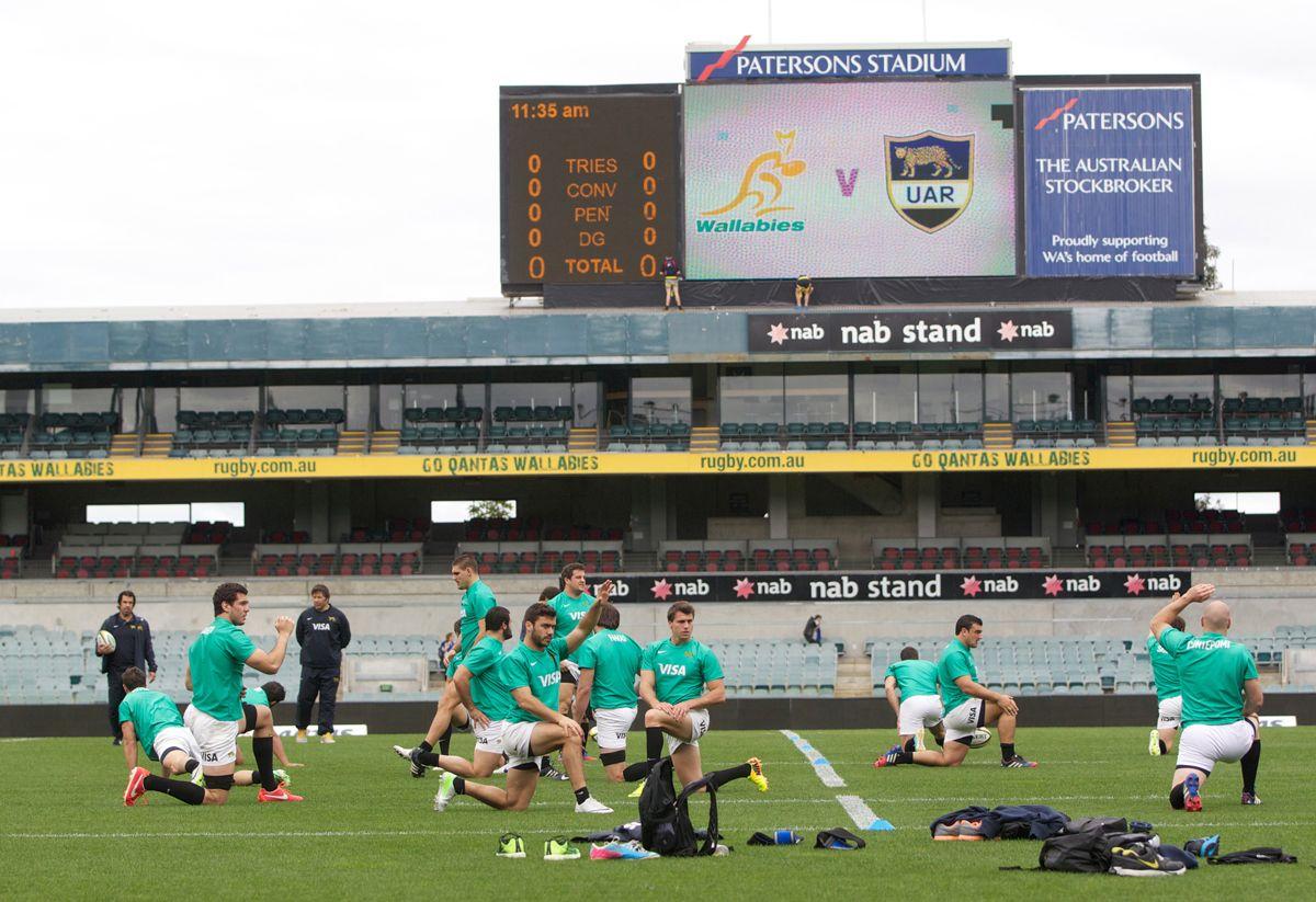 Enfocados. Los Pumas realizaron el Captains Run y esperan el partido.