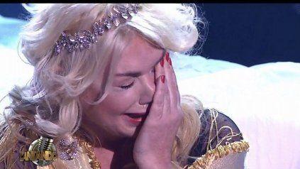 Esmeralda Mitre en pleno llanto a causa del estrés que acumuló en los últimos meses.