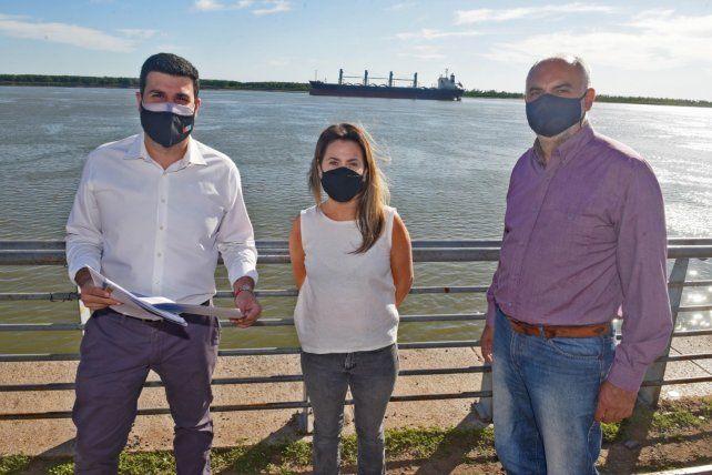 Marcos Cleri, Vanesa Massetani y Roberto Meli celebraron el acuerdo federal  por la Hidrovía