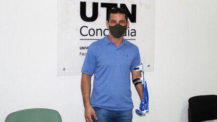 Luciano Ruiz Díaz tuvo un accidente laboral en 2008 cuando trabajaba en un aserradero de Concordia. Fue diseñada por alumnos de la UTN.