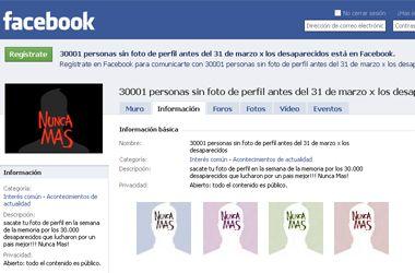 Proponen a los usuarios de Facebook quitar la foto del perfil el 24 de marzo