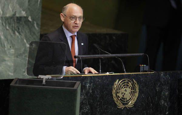 Argumentos. El canciller Timerman explicó que la Argentina apeló a la Convención de Viena.