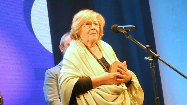 Último reconocimiento. Pily Ponce fue homenajeada por la Municipalidad de Rosario el pasado 15 de mayo en el marco de los premios Rosario Edita.