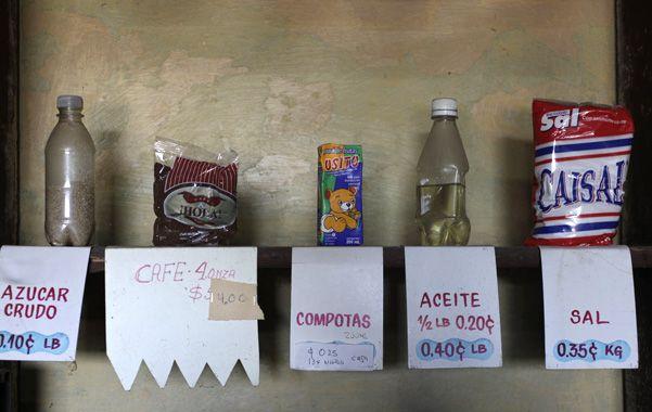 Primera necesidad. Algunos de los alimentos subsidiados por el Estado cubano desde hace medio siglo.