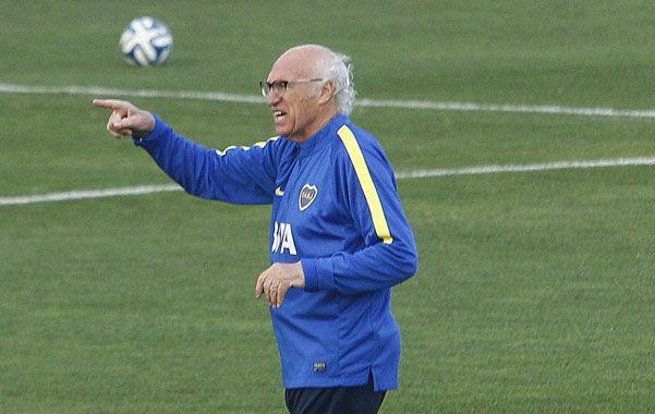 Vamos para allá. El técnico de Boca tiene muy claro que Boca debe pelear hasta el final este torneo.