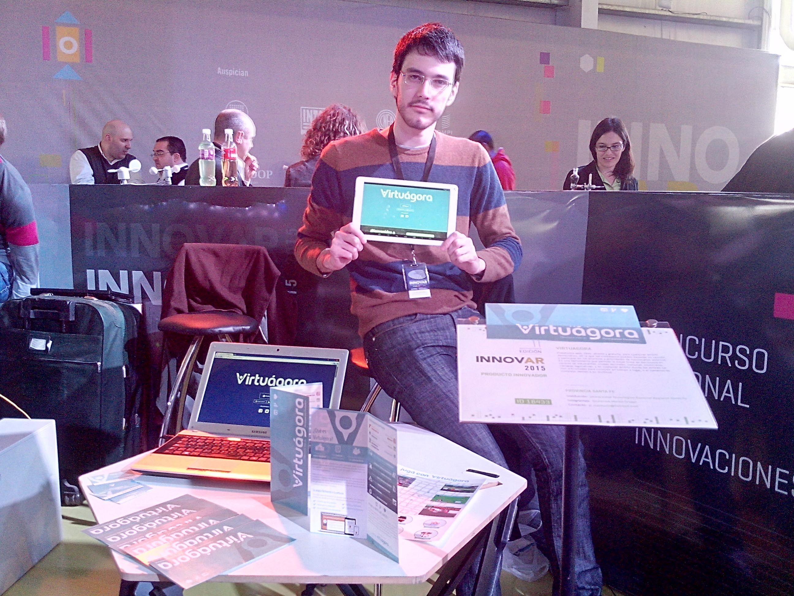 Ideas exitosas. Augusto Mathurin y su compañero Guillermo Croppi obtuvieron un premio por su trabajo.