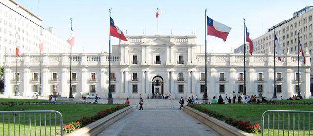 Impactante. El Palacio de la Moneda está en el casco histórico de la ciudad.