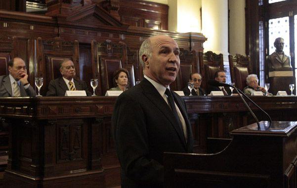 Lorenzetti realizó una moción conjunta con Maqueda y Fayt a favor de la sentencia.