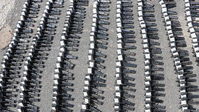 Ya se recibieron 600 armas y cerca de 12.000 municiones.