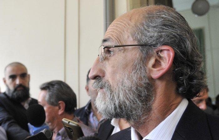 Matías Layús en la reunión de los gremialistas locales con Berni