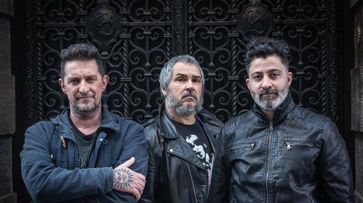 """Gustavo """"Fósforo"""" García, Ariel Minimal y Franco Salvador (de izq. a der.) están juntos desde los años 90."""