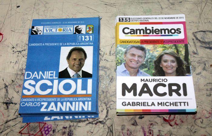 Las boletas con las que se vota hoy.