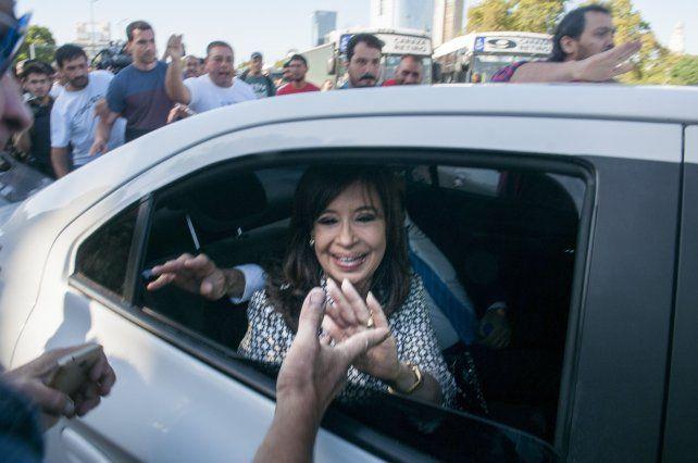 La expresidenta en su última aparición pública.