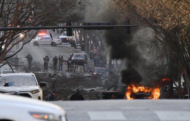 Una explosión masiva sacudió este viernes el centro de la ciudad de Nashville