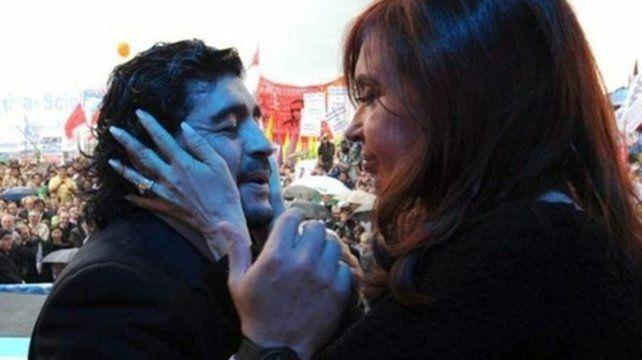 Identificación. Diego respaldó siempre a Cristina y mandó un mensaje esperanzador.