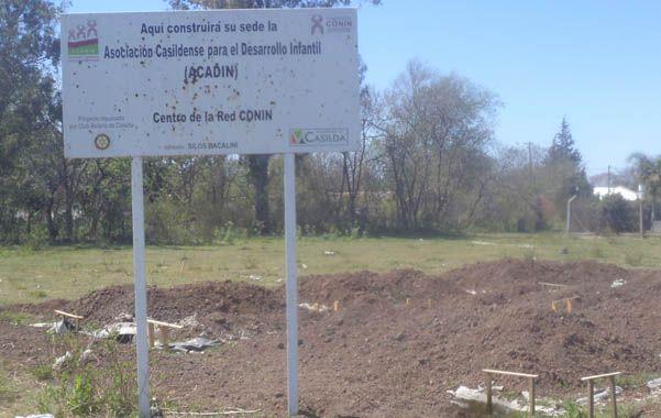 Arranque de obras. La sede de la entidad estará en el barrio Nueva Roma.