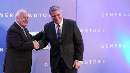 Lifschitz junto a Carlos Zarlenga, presidente de GM Sudamérica.