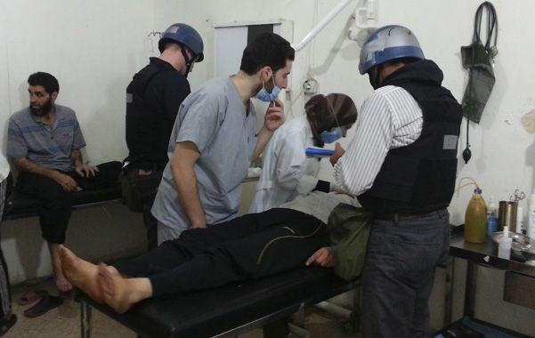 Pruebas. Los especialistas de la ONU pudieron finamente entrevistar a  pacientes que sobrevivieron al ataque.