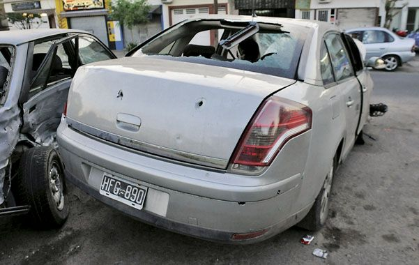 Tiros. Yu iba al volante de un Citroën C4. El abogado de su amigo Yong Hua Guan dice que es difícil que haya disparado. (foto: Néstor Juncos)