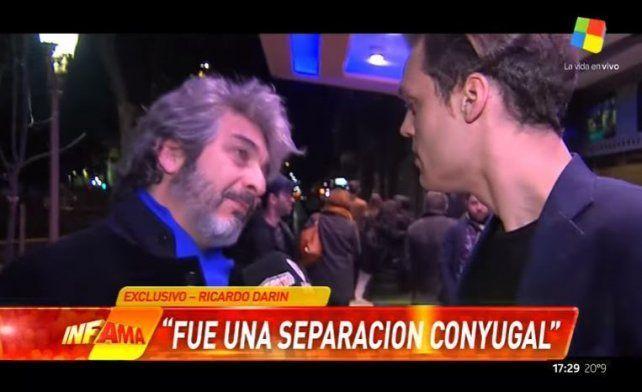 Ricardo Darín blanqueó su pelea conyugal, personal y laboral con Erica Rivas