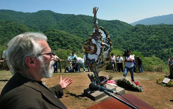 """El padre. Jean Michael Bouvier en el homenaje a """"Los Angeles de Salta"""""""
