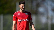 Lucas Alario sufrió una nueva lesión en el equipo alemán.