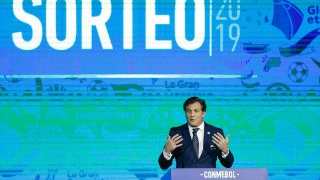 En Luque. El presidente de la Conmebol