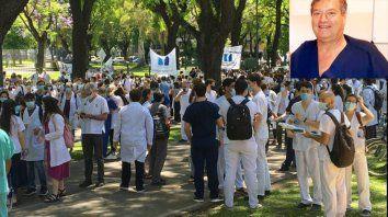 El médico Alejandro Hakim era jefe de Obstetricia del hospital Ramos Mejía. Participaba de la movilización de Salud contra la gestión de Rodríguez Larreta