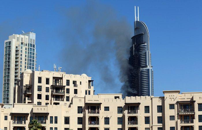 Extinguieron incendio de rascacielos en Dubai y estiman que fue accidental