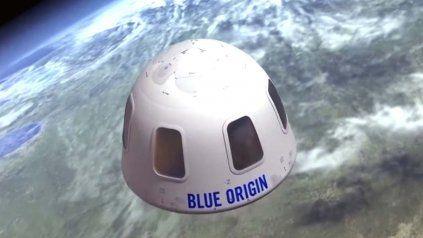 Imagen del cohete New Shepard, del multimillonario Jeff Bezos.