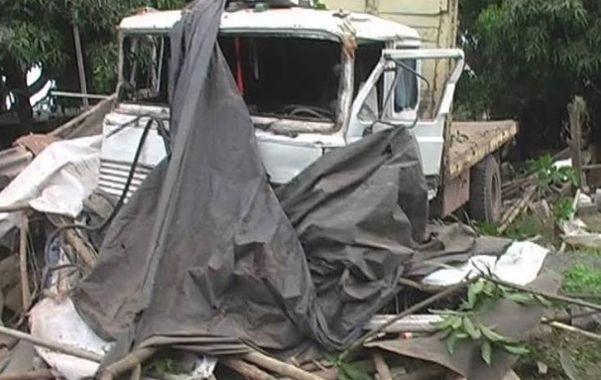 Trágico. El Fiat Iveco que protagonizó el accidente.