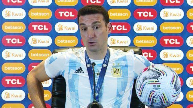 Scaloni le bajó el tono a una eventual polémica con Marcelo Gallardo