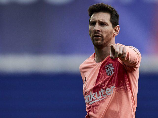 Messi se consagró goleador de la liga española por sexta vez