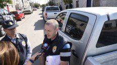 Druetta (ante el micrófono) afronta un pedido de 15 años de prisión como organizador de narcotráfico.