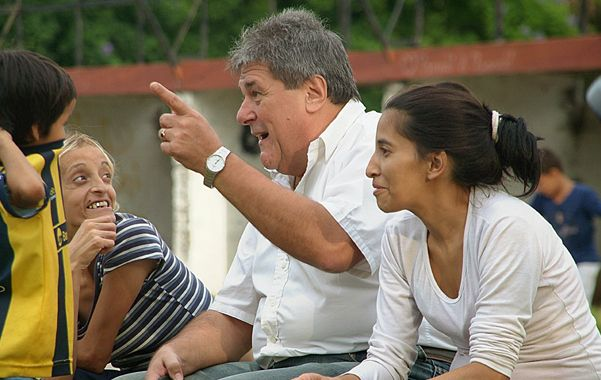 Rubeo participó de una jornada recreativa para los niños en el distrito sur.