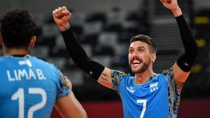 El seleccionado argentino masculino de vóleibol consiguió su segunda victoria en Tokio 2020 al ganarle a Túnez.
