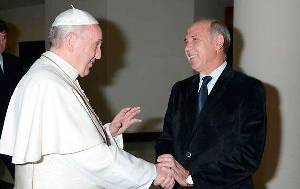 Buenas relaciones. Francisco y Lorenzetti habían intercambiado cartas.