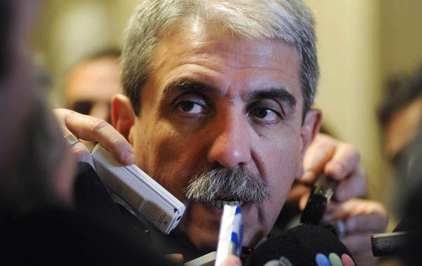Miradas. Fernández quedó en el centro de la polémica al ser vinculado con el triple crimen de General Rodríguez.