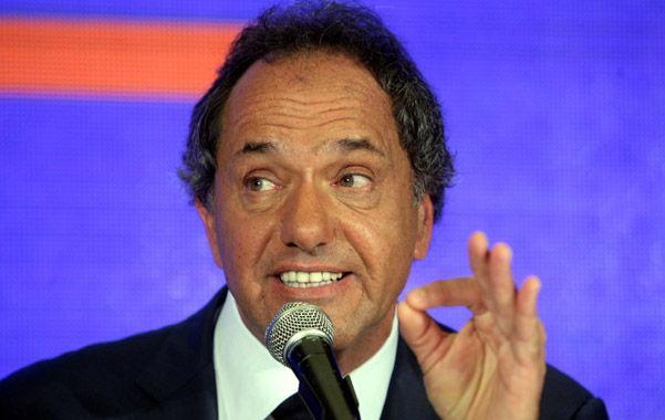 """Scioli aseguró que no hay cortocircuitos con Cristina y dijo que el FpV está """"más unido que nunca"""". (DyN)"""