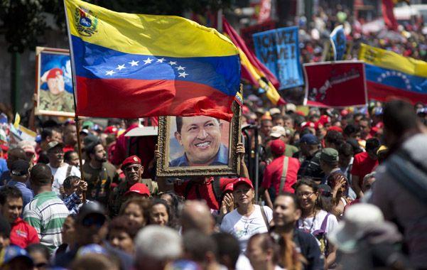Fervor. Chavistas recordaron a su carismático líder a tres años de su muerte.