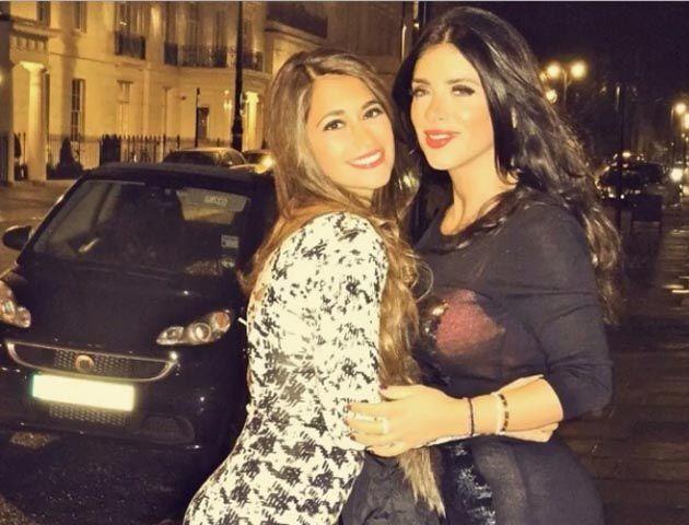 Antonella Roccuzzo y su amiga Daniella Semaan