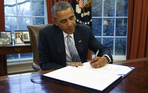 Decisión. Obama firmó una orden ejecutiva para sancionar a los altos funcionarios del gobierno de Caracas.