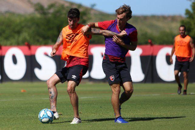 Formica y Cacciabue en el entrenamiento.